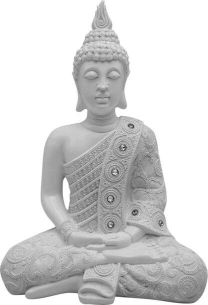 bouddha blanc meditation