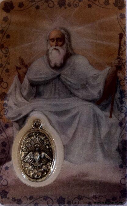 Carte médaille Notre Père