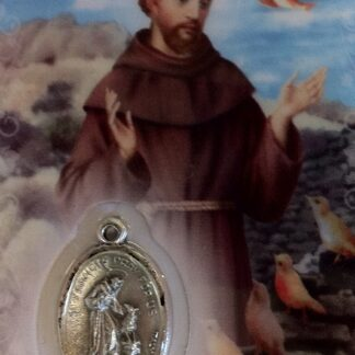 Carte médaille Saint-François