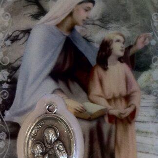 Carte médaille Sainte-Anne