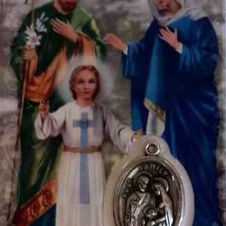 Carte médaille Sainte Famille