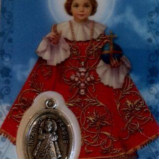 Carte médaille Jésus de Prague