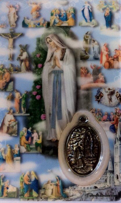 Carte médaille Mystère Saint-Rosaire