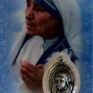 Carte médaille Mère Teresa