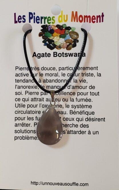 collier agate botswana