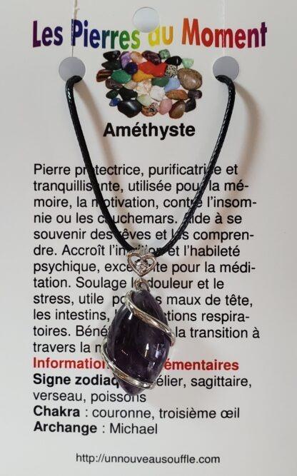 collier amethyste