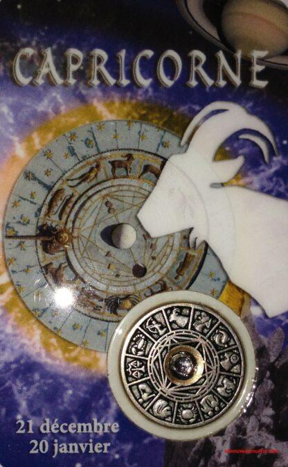 Carte médaille Capricorne