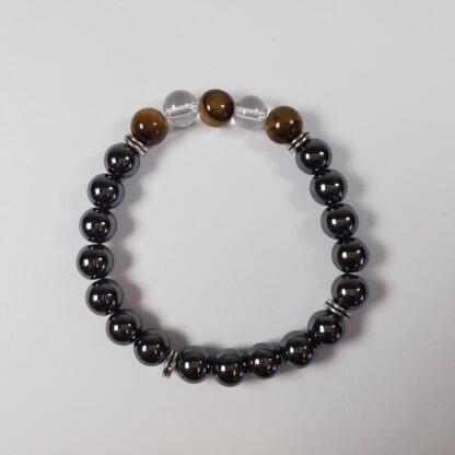 k15 bracelet hematite_oeil de tigre_qclair