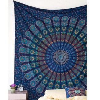 tapisserie murale bleu
