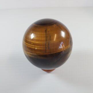 Œil de tigre jaune - sphère 70mm