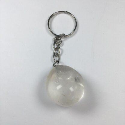 Porte-clés quartz clair poli