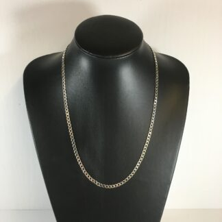 chaine argent simple maille 22""