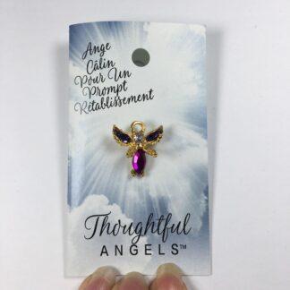 epinglette ange calin pour un prompt retablissement