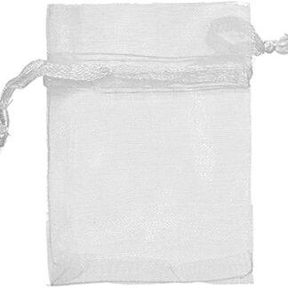 pochette organza - blanc