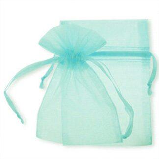 pochette organza - bleu pale