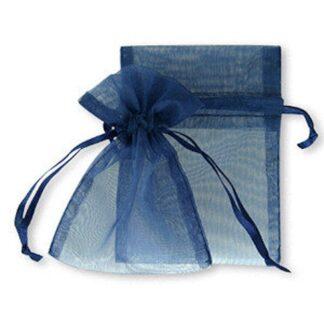 pochette organza - bleu royal