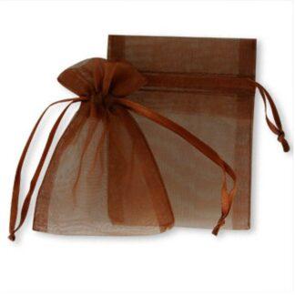 pochette organza - brun