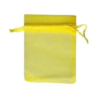 pochette organza - jaune