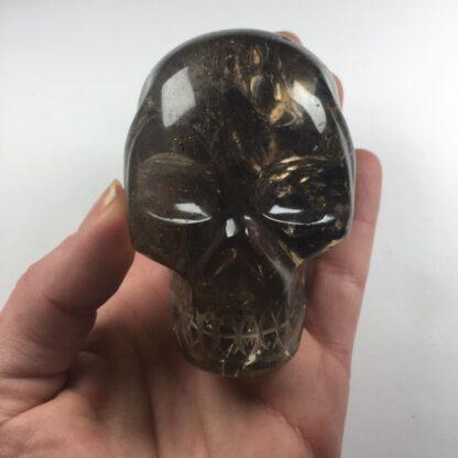 Quartz fumé - crâne de cristal