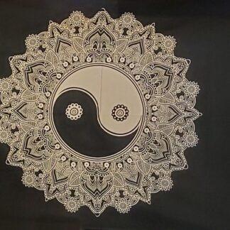 Tapisserie murale - yin yang noire