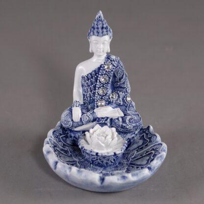 Bouddha bleu sur lotus