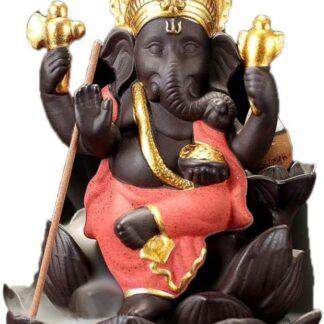 Brûleur d'encens à refoulement - Ganesh rouge