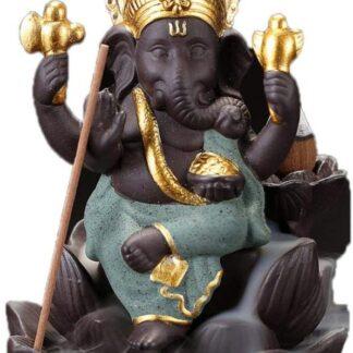 Brûleur d'encens à refoulement - Ganesh vert