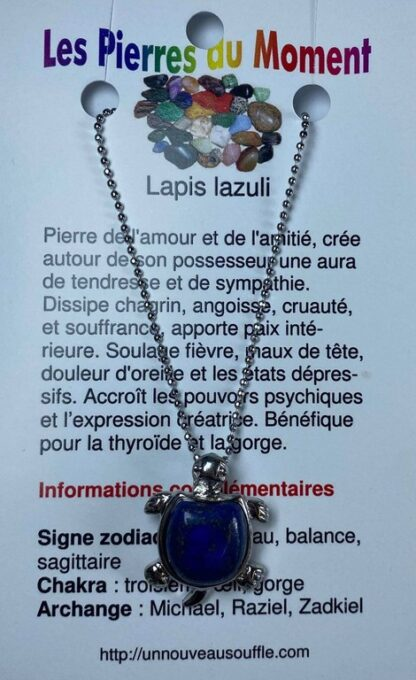Collier tortue - lapis lazuli