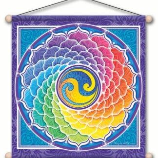 Bannière spirale arc-en-ciel