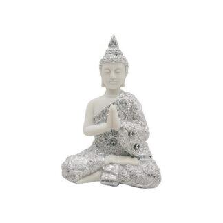 Bouddha blanc et argenté