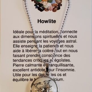 Collier chats - howlite
